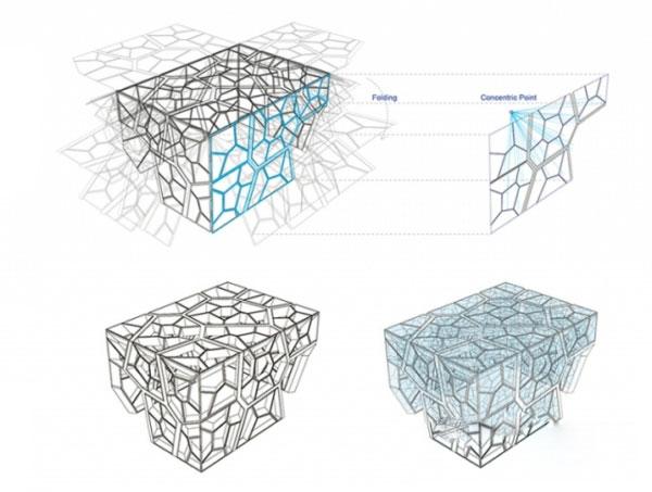 模仿了解剖学上的树叶微孔结构.