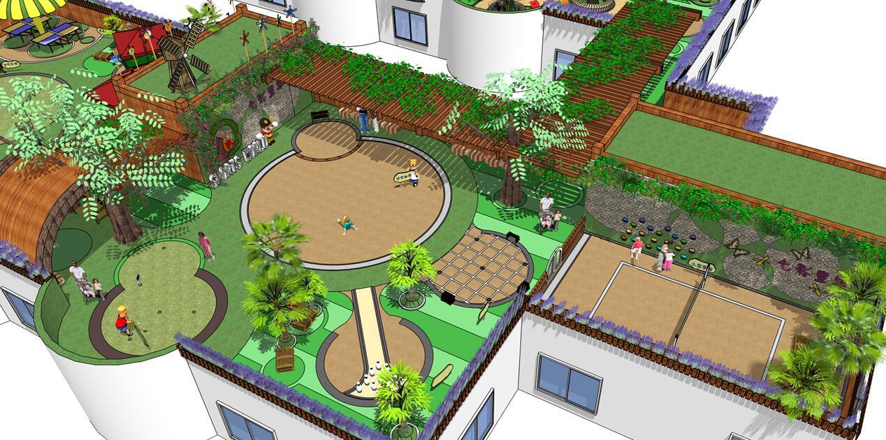 武汉市常青幼儿园屋顶儿童活动区景观设计